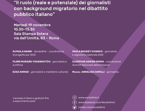 Il ruolo dei giornalisti con back ground migratorio nel dibattito pubblico italiano